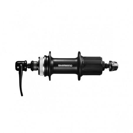 Galinė stebulė Shimano FH-RM33 9,8 pavarų, greitaveržlė, juoda