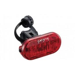 Cateye Omni 3 LED galinis žibintas (2xAAA baterijos)