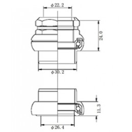 "Tange Headset Falcon FL250C 1"""